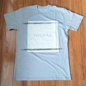 Five Four Mens Gray T-shirt  Size M